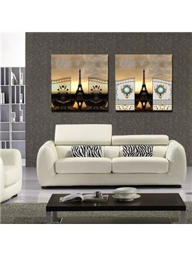 New Arrival Eiffel Tower And Sunset Film Wall Art Prints