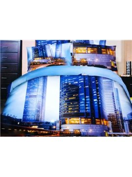 Glorious Building in Night Print 3D Duvet Cover Sets