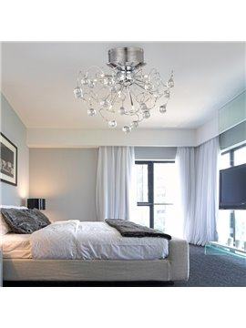 Enjoyable Luxuriant Metal Crystal 9 Lights Flush Mount