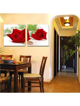 New Arrival Red Roses And Ring Film Art Wall Prints