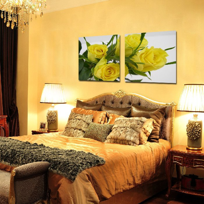 New Arrival Elegant Yellow Roses Film Art Wall Prints