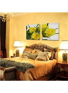 New Arrival Elegant Yellow Roses Film Art Wall Prints