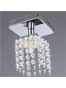 Comtemporary Decorative Metal Crystal 1 Light Flush Mount