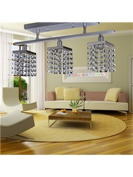 Fantastic Decorative Metal Crystal 3 Light Flush Mount