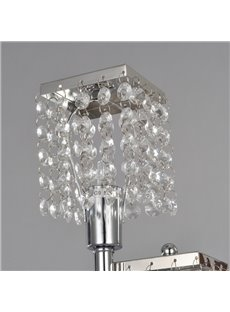 Elegant Decorative Metal Crystal 2 Lights Table Lamp