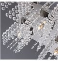 Enjoyable Metal Crystal 5 Lights Flush Mount