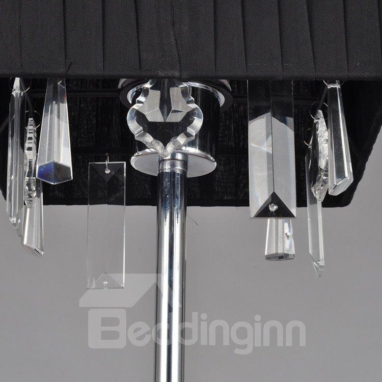 Black Stunning Creative Metal Crystal 1 Light Lamp