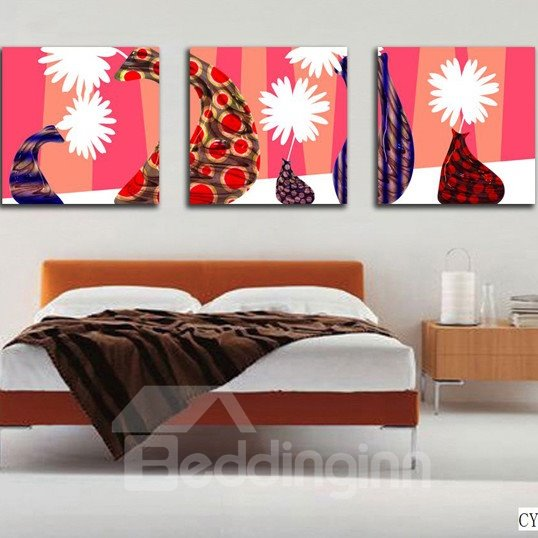 New Arrival White Flowers In Unique Bottles Canvas Wall Prints