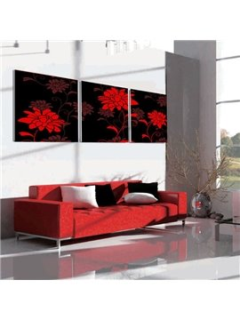 New Arrival Red Elegant Flowers Canvas Wall Prints