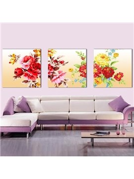New Arrival Colorful And Delicate Flowers Canvas Wall Prints