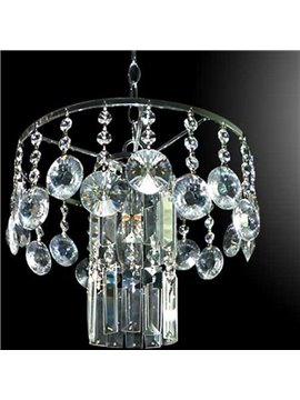 Amazing Chrome Metal K9 Crystal Pendant Light