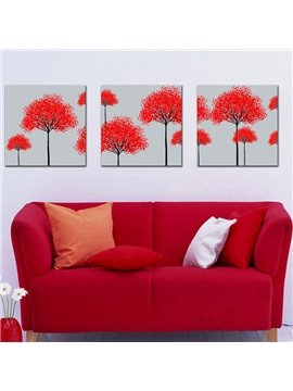 New Arrival Lovely Trees With Red Leaves Canvas Wall Prints
