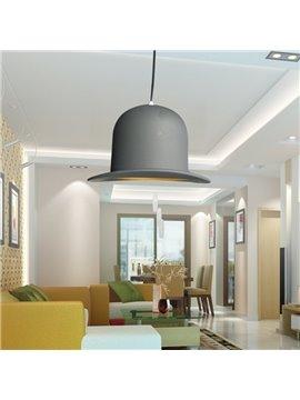 European Style Gray Aluminum Shade Pendant Light