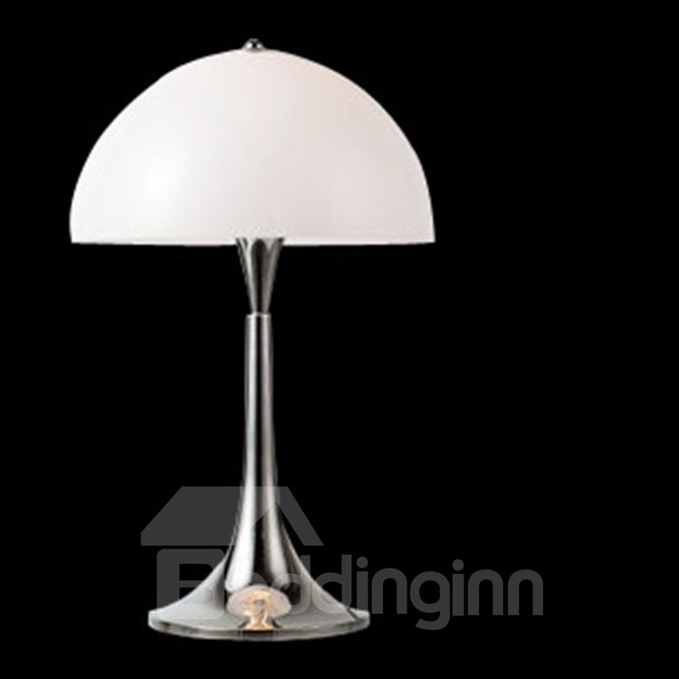 Stunning White Glass Shade 1 Light Table Lamp