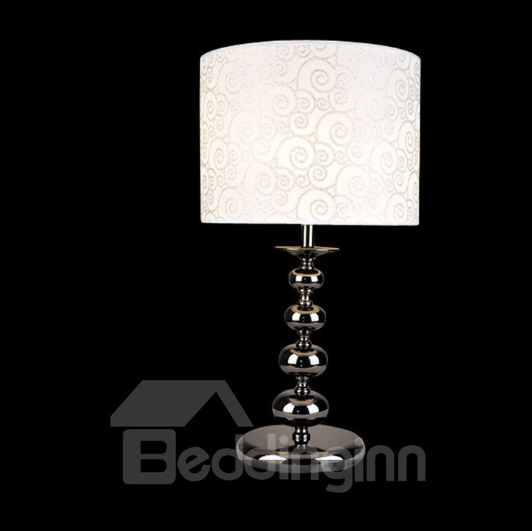 Stunning Patterned Metal Fabric Shade 1 Light Lamp