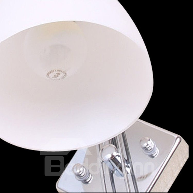 Comtemporary Stunning Metal Glass Shade Wall Light