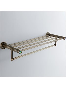 Modern Colorful Crystal Decorated Bronze Finish Brass Towel Rack