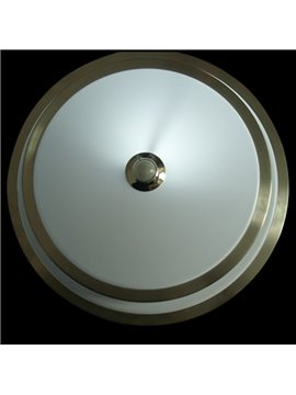 Amazing Chrome Metal Acrylic Shade Flush Mount