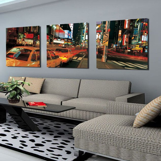 New Arrival Cars Traveling On Street Canvas Wall Prints