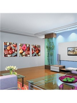 New Arrival Colorful Stones In the Water And Delicate Flower Canvas Wall Prints