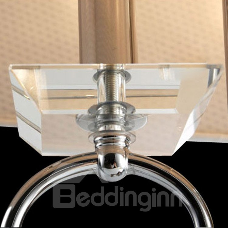 Stunning Chrome Metal Fabric Shade 1 Light Lamp