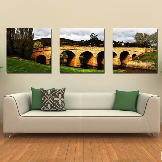 New Arrival Lake Under Bridge And Sky Canvas Wall Prints