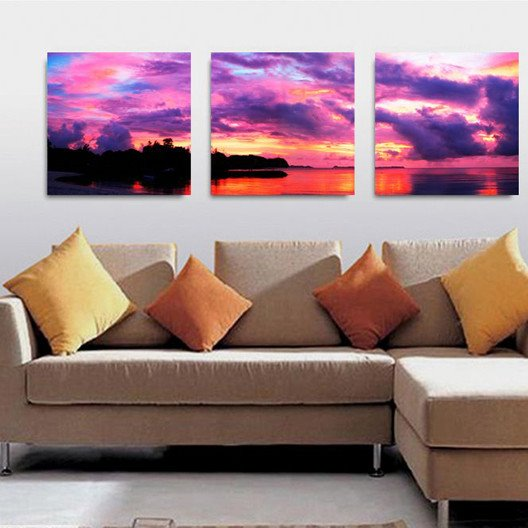 New Arrival Colorful Cloud And The Lake Canvas Wall Prints