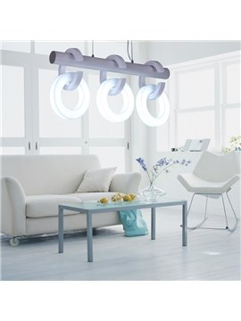 Amazing Metal Acrylic Shade 3 Lights Pendant