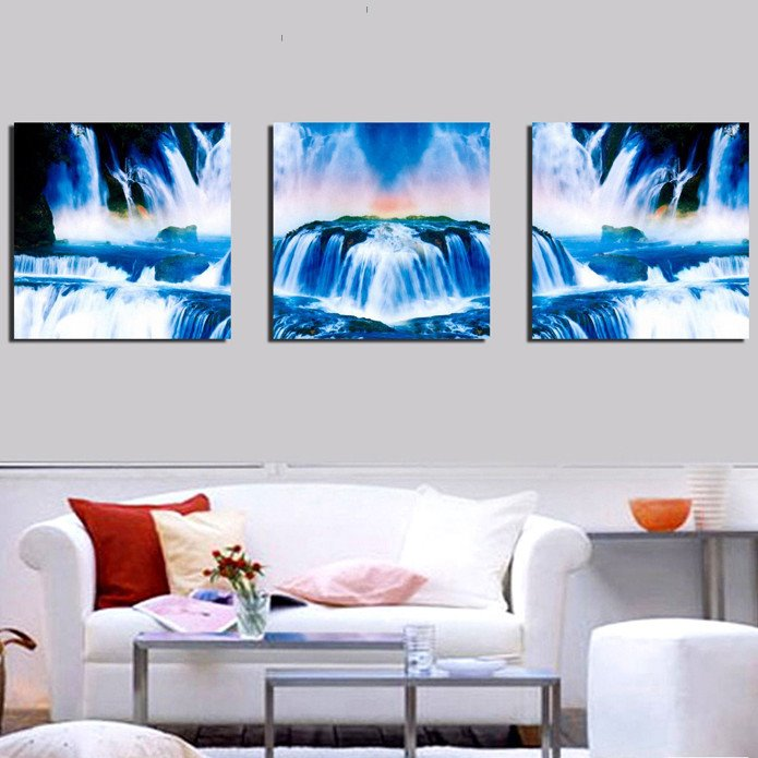New Arrival Beautiful Waterfall Canvas Wall Prints