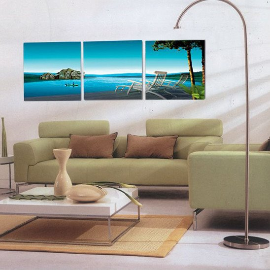New Arrival Pleasant Life Beside Sea Canvas Wall Prints