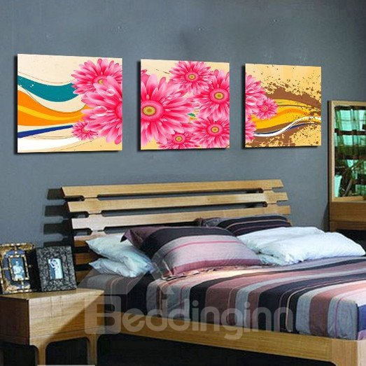 New Arrival Delicate Pink Sunflowers Canvas Wall Prints