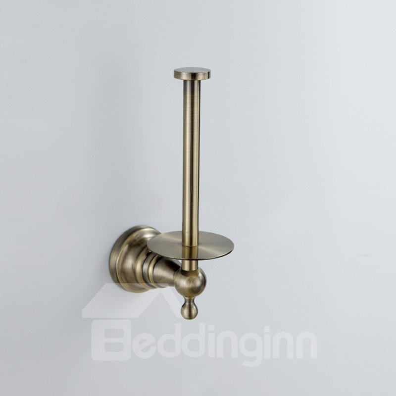 Antique Brass Wall Mount Toilet Tissue Holder