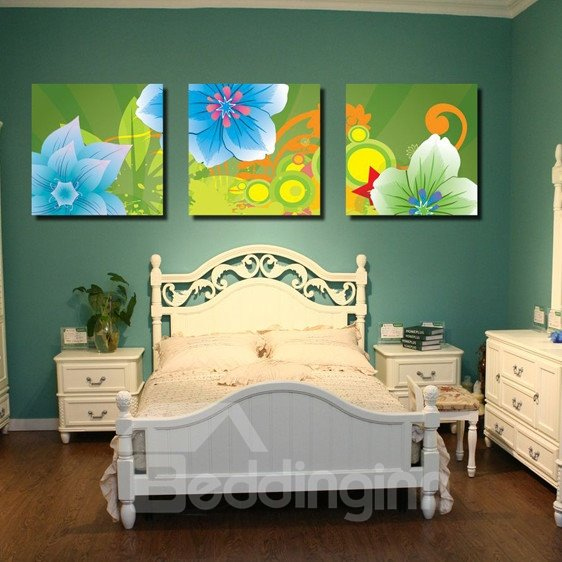 New Arrival Green Flowers Blossom Canvas Wall Prints