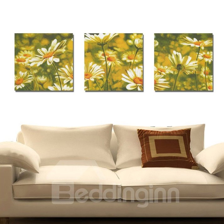 New Arrival Delicate Sunflowers Toward Sunshine Canvas Wall Prints