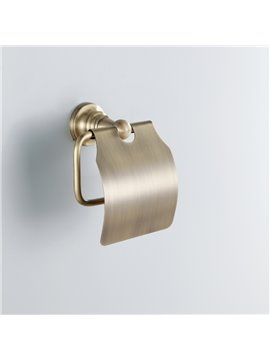 Classic Round Style Antique Brass Toilet Roll Holders
