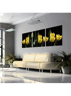 New Arrival Pure Yellow Tulip Canvas Wall Prints