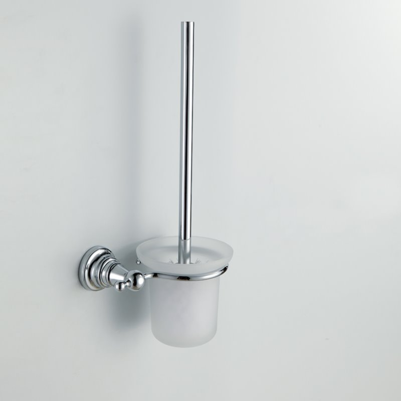 Chrome Finish Bathroom Accessories Brass Toilet Brush Rack