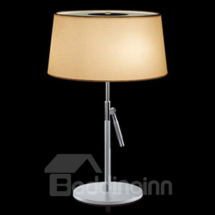 Amazing Chrome Metal Fabric Shade 1 Light Lamp