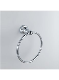 Chrome Finish Bathroom Accessories Brass Round Towel Ring