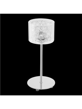Fancy Glass Metal Base 1 Light Lamp
