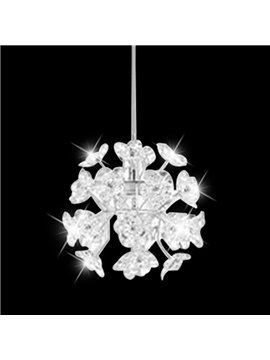 Fancy Acrylic Floral Metal Top-suching Disk 1 Light Pendant