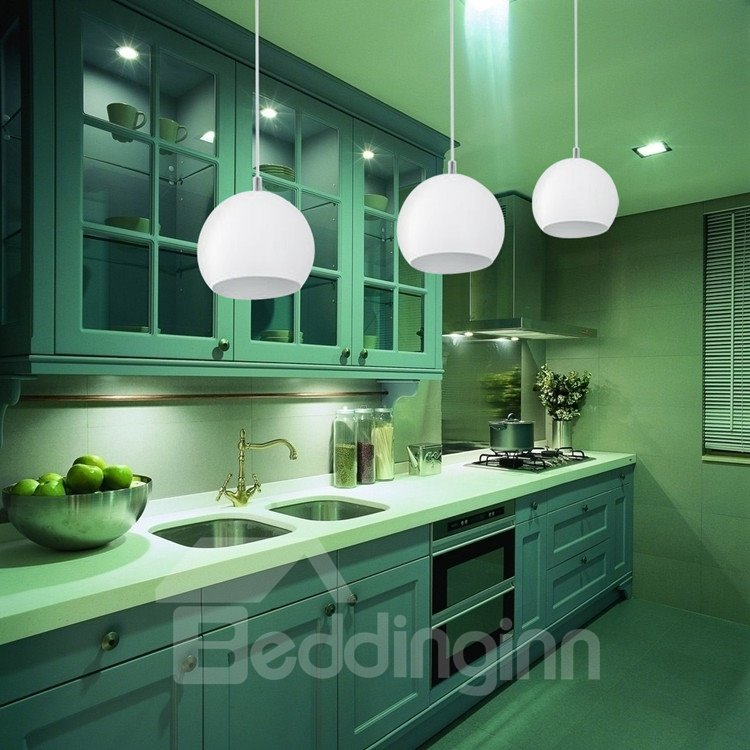 Amazing Glass Shade Metal Top-sucking Disk 1 Light Pendant