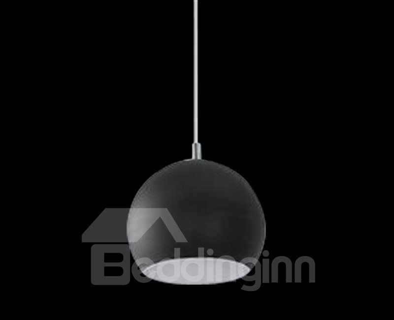 Amazing Black Glass Metal Top-sucking Disk 1 Light Pendant