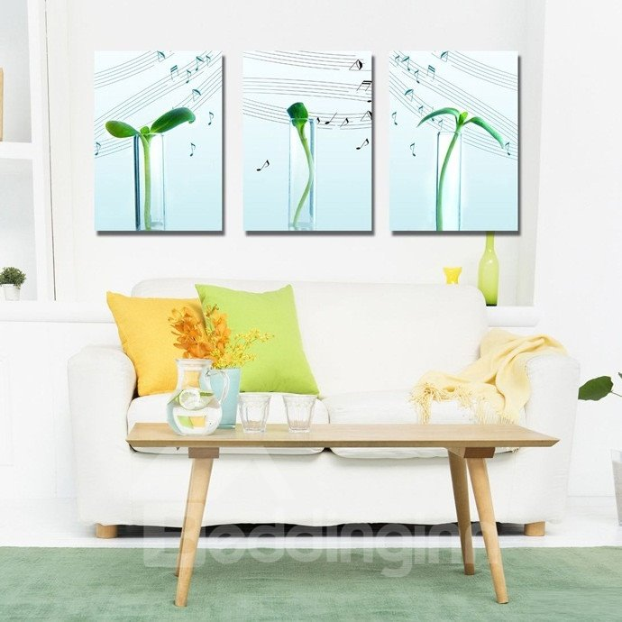 New Arrival Pea Seedlings and Stave Canvas Wall Prints