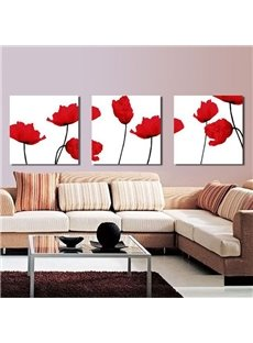 New Arrival Fantastic Red Flowers Wall Prints