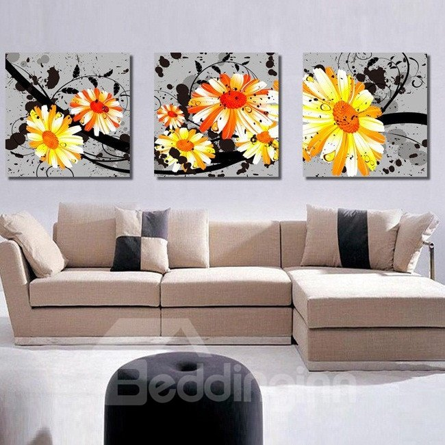 Magnificent Flowers Blossom Pattern Canvas None Framed Wall Art Prints