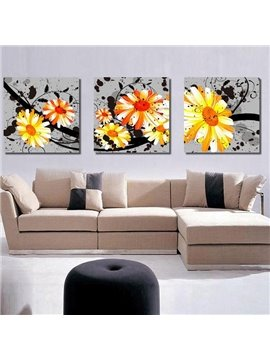Magnificent Flowers Blossom Pattern Canvas Framed Wall Art Prints