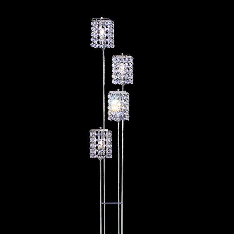 Modern Shining Metal Crystal Shade 4 Lights Floor Lamp
