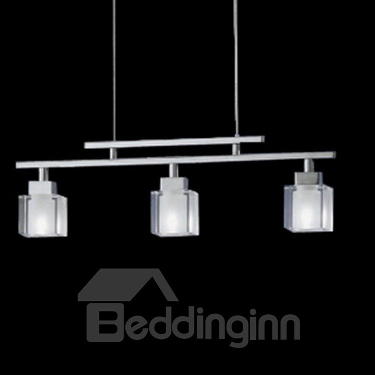 Modern Metal Crystal Shade 3 Lights Pendant