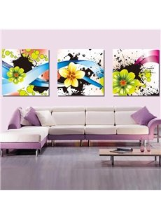 New Arrival Blooming Fragrant Yellow Flowers Canvas Wall Prints